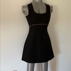 Wrapper black dress